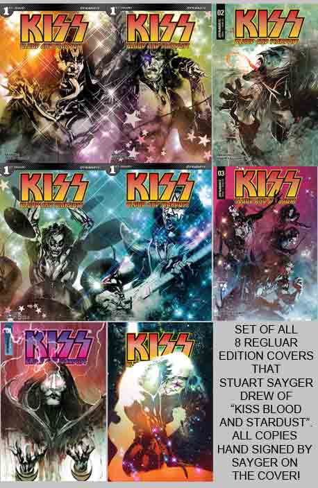 Kiss Blood and Stardust #1-5 set