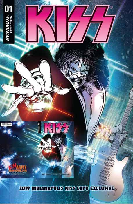 Kiss The End #1A Indianapolis Kiss Expo Sayger exclusiver cover